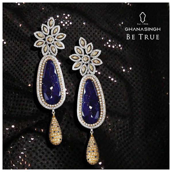 Name the stone used in this #jewellery piece! Is it Blue Lapes or Tanzanite? #FashionJewellery #DesignerJewellery #Fashion