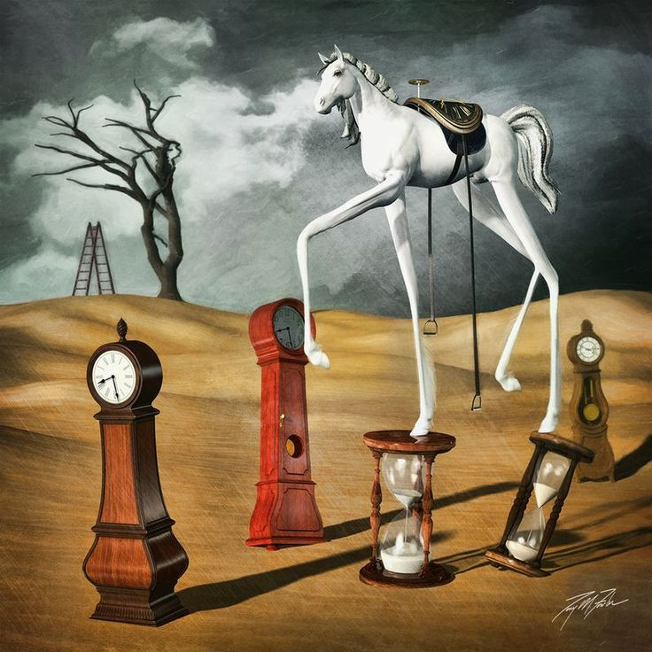 """""""Sands of Time"""" by Tony Fowler. Digital Art (Giclée) on Paper, Subject: Animals and birds, Surrealistic style, From a limited edition of 50, Signed and numbered certificate of authenticity, This artwork is sold unframed, Size: 33.02 x 33.02 cm (unframed), 13 x 13 in (unframed), Materials: Giclée print with Canon Lucia pigment ink on acid-free Canson Infinity or Hahnemühle fine art paper"""
