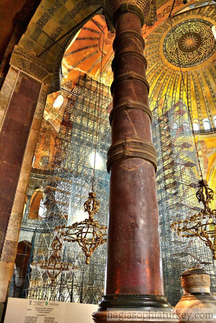In Hagia Sophia, there are 140 monolithic columns which were brought from different places of the world. For instance; the 8 porphyry columns whose color of purple symbolize nobility of the Byzantine Empire, are from Egypt and stand under semi domes. There are also 8 green columns from Artemis Temple in Ephesus. The capitals of …