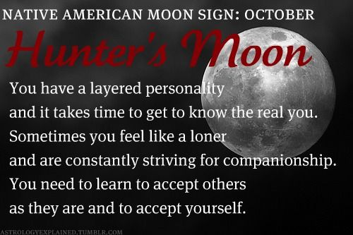 Native American Moon Sign: October Hunter's Moon