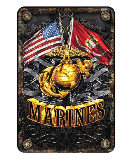 Signs4Fun US Marines Flags Embossed Parking Sign | zulily