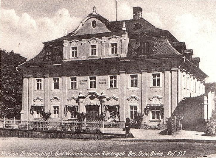 Dawny pałacyk - dziś ul. Jagiellońska w Cieplicach.
