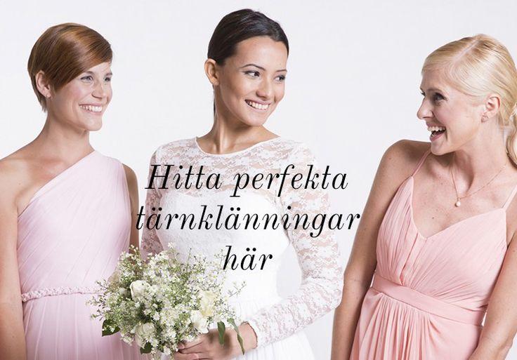 Här hittar du tärnklänningar till ditt bröllop