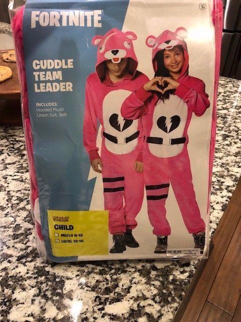c1fefce2771 Kids Fortnite CUDDLE TEAM LEADER L/XL 12-16 Child Halloween Costume ...