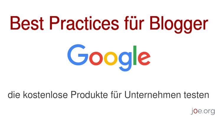 Kostenlose Produkte nach den Google Richtlinien testen