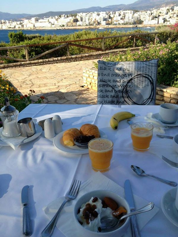 Breakfast time with an amazing view of Crete! Photo credits: @Thomas Wren