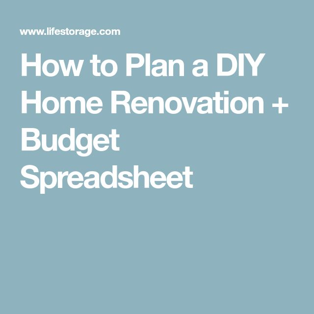 house renovation budget spreadsheet