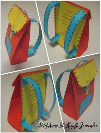 Çocuklara hediye Karne hediye Okul çantası Karnenin yanında minik hediye