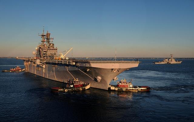 USS Bataan departs Naval Station Norfolk