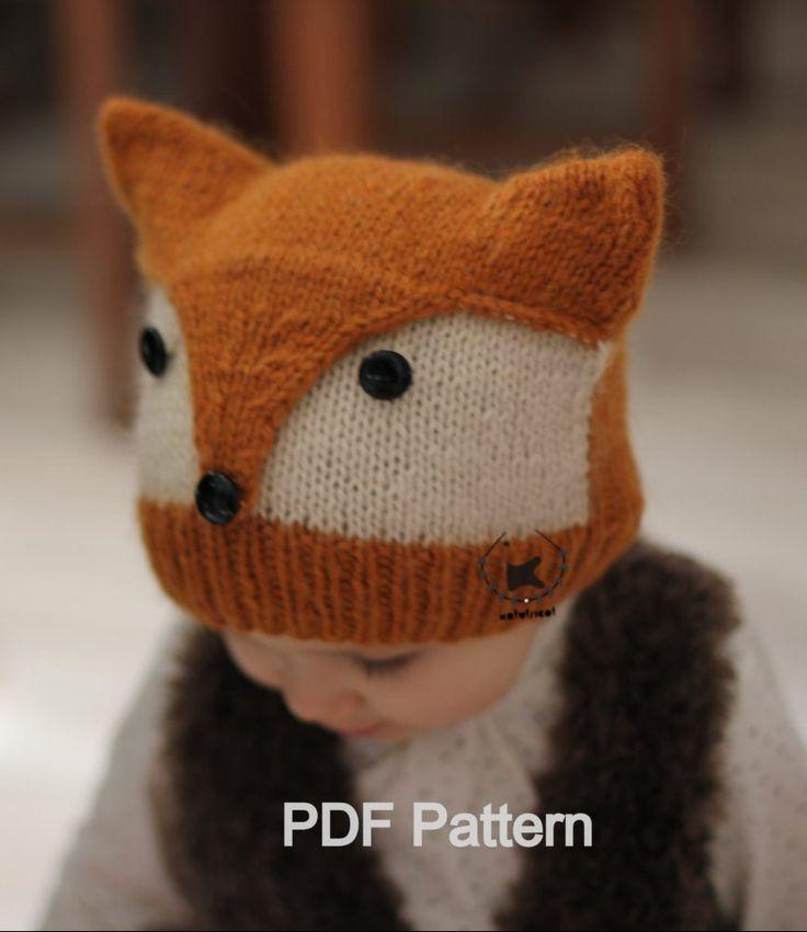 Knitting for Fox Hat