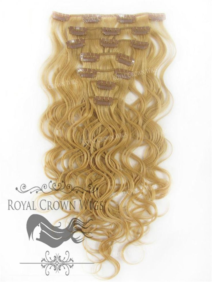 Brazilian 7 Piece Body Wave Human Hair Weft Clip-In Extensions in #14