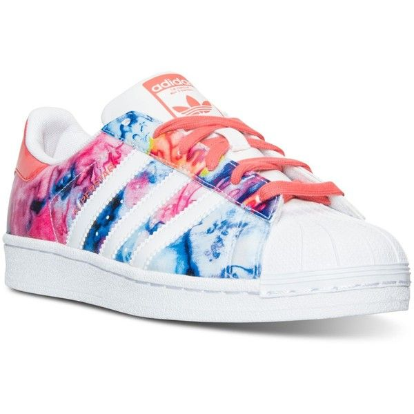 adidas Big Girls' Superstar Casual Sneakers from Finish Line ($70) ❤ liked on Polyvore featuring shoes, sneakers, low profile sneakers, low profile shoes, adidas footwear, adidas and adidas sneakers