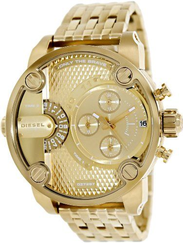 17 best images about watches white watches diesel little daddy chronograph stainless steel gold tone men s watch