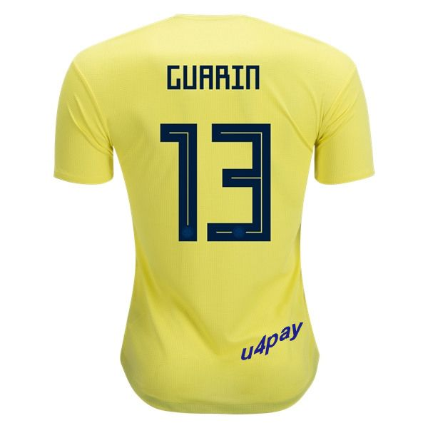 Fredy Guarin 13 2018 FIFA World Cup Colombia Home Soccer Jersey