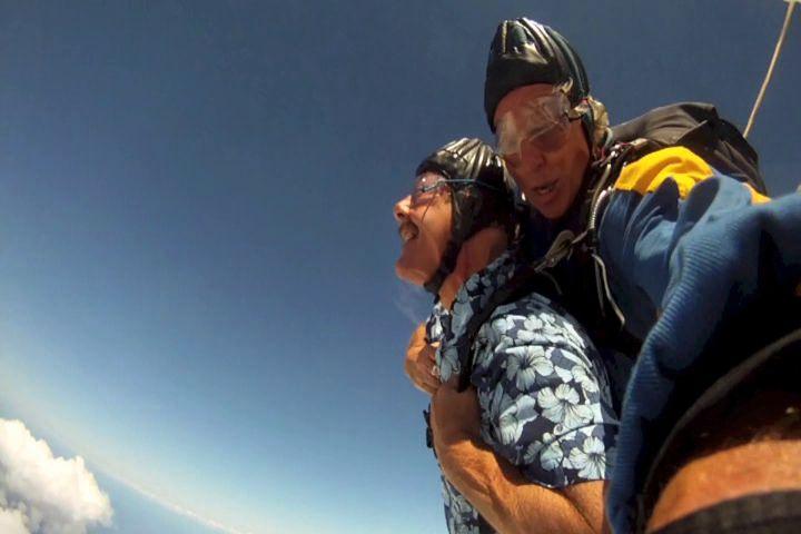 John skydiving a couple summers ago.