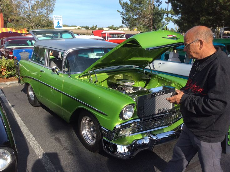 At the Tri 5 Chevy show in Issaquah Washington. At the XXX Root Beer Drive In. August 20th 2017. 1956 Chevy Chevrolet Station wagon.