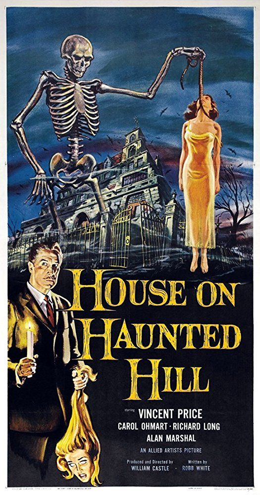 La mansión de los horrores (1959) Título original: House on Haunted Hill (EE.UU.) Género: Películas > Drama / Terror / Thriller Director: William Castle. Duración: 75 minutos.