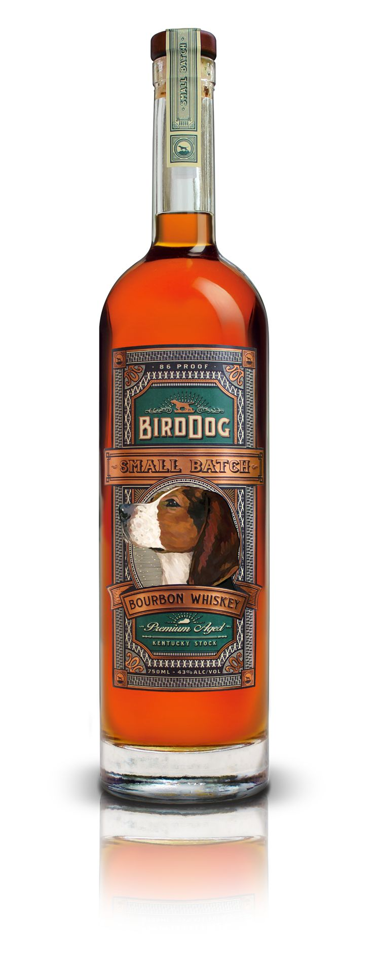 Bird Dog Small Batch Bourbon Whiskey has an elaborate medley of corn, malted barley and rye that formulates into a distinctive gentle bourbon.