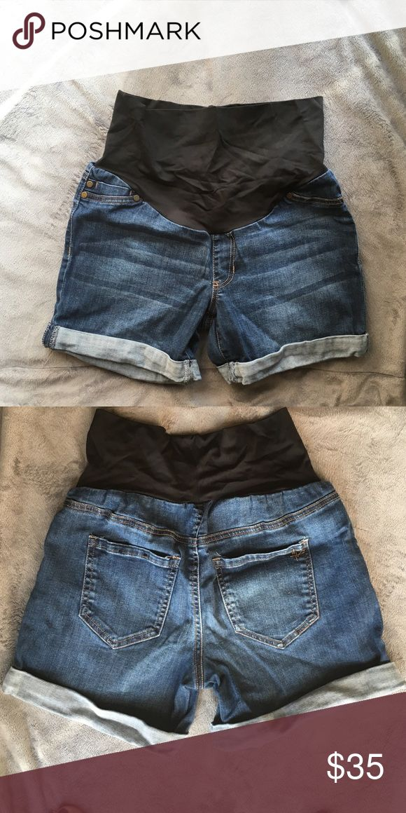 Cuffed maternity shorts Super comfortable belly band stays up great. Good for petite women has about a two inch inseam Liverpool Jeans Company Shorts Jean Shorts