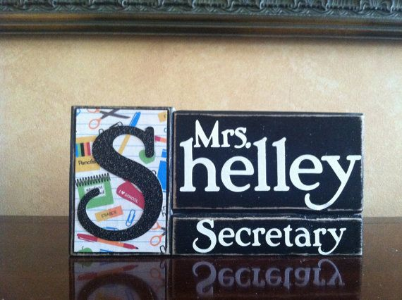 Hey, I found this really awesome Etsy listing at http://www.etsy.com/listing/130222968/personalized-secretary-gift-wood
