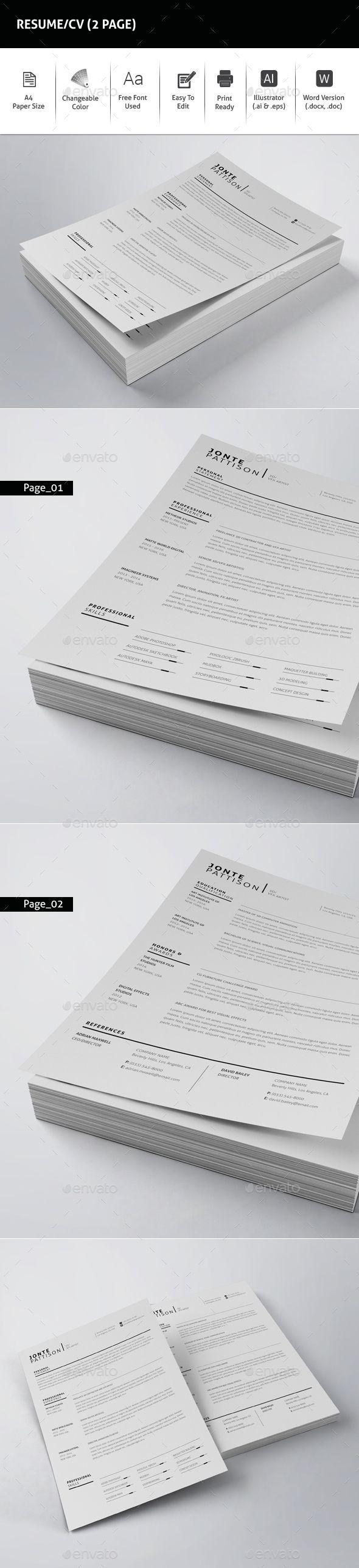 printable resume format%0A Resume CV    Page
