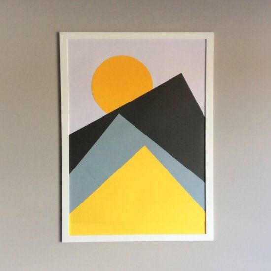Make your very own Nordic-inspired, geometric wall art! Easy tutorial, plus top tips for making your own custom design.