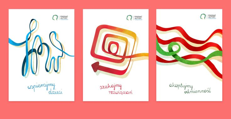 'Fight autism'. Visual identity for a concept foundation fighting against children's autism. Project includes promotion materials, leaflet, patterns for bag and T-shirt, website's layout and three posters.