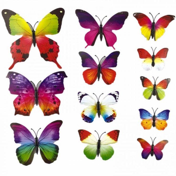 Яркие и невероятно красивые, они вызывают восхищение. Декор стен бабочками внесёт каскад красок в интерьер и оживит вашу комнату.