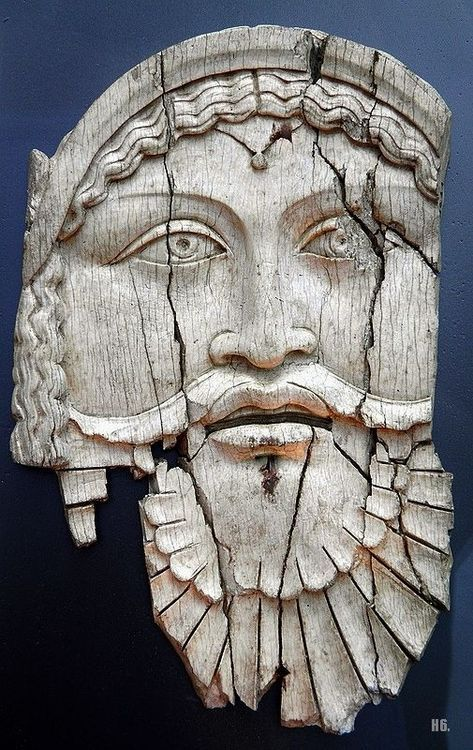 hadrian6:    Ivory plaque depicting Dionysus. 1st.century.B.C.- 1st.century. A.D.  Sepino Italy.  http;//hadrian6.tumblr.com
