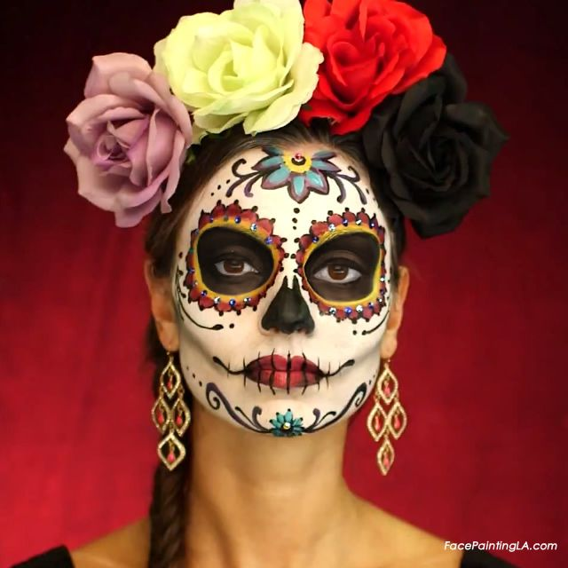 day of the dead dia de los muertos face painter los angeles la - Halloween Day Of The Dead Face Paint