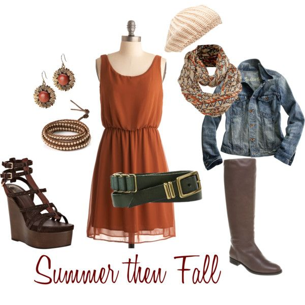 Summer then Fall outfit idea. Need more transition ideas like this one.