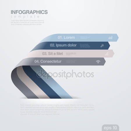 Скачать - Инфографика Векторный дизайн шаблона. Лента стрелы — стоковая иллюстрация #30488081