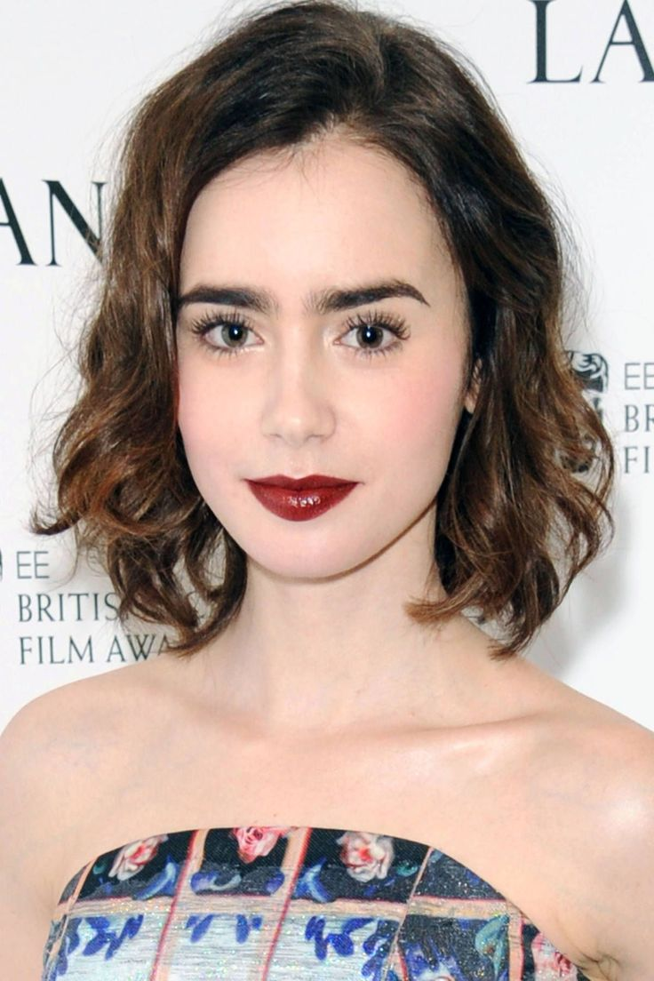 Seen On: Lily Collins How-To: Makeup artist Alex Babsky gave Collins this fresh-faced look paired with a deep berry lip and clean, defined, extra-long lashes—the effect is bold yet clean and simple. Use a non-volumizing mascara to lengthen and define lashes from root to tip. For lips, layer a wine-colored lipstick with a tinted balm on top for a hint of luxe shine. Editor's Picks: Lancome Lip Lover in Bouquet Final, $23, nordstrom.com (available starting March 2014); Lancome Rouge in Love…