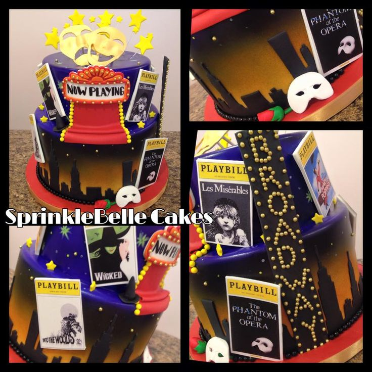 Broadway Birthday Cake