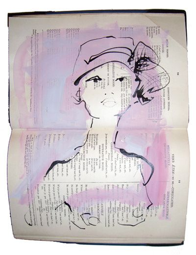In nothing but her hat by Bridget Davies