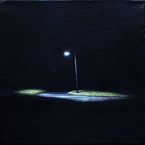 Christoph Eberle   Hyperreal painter    Path, 2014, 15 × 15 cm, oil on canvas