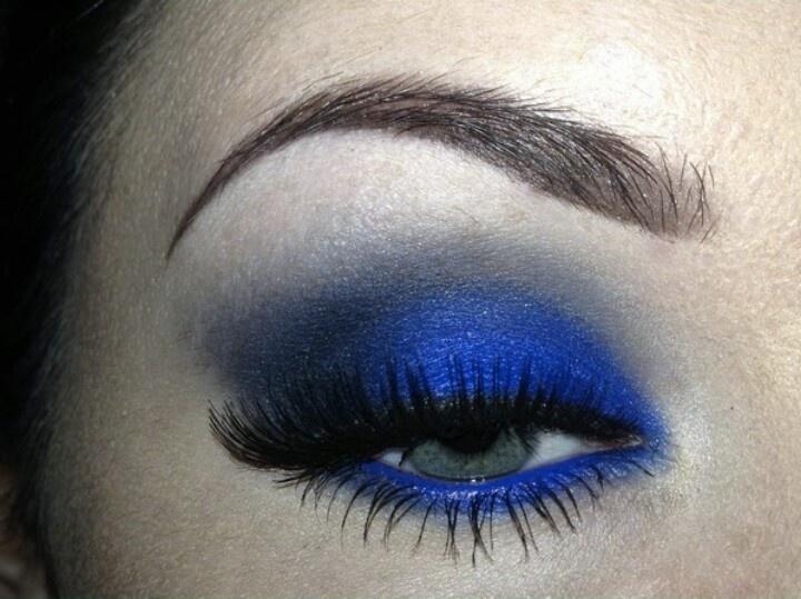 Cobalt Blue Smokey Eye All Thing S Blue Eye Makeup