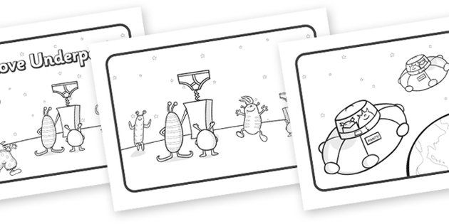 Aliens Love Underpants Story Sequencing (A4, Black & White) - aliens, woolly, long johns, space ship, Claire Freedman, underpants, sequencing, story sequencing, story resources, A4, cards, story book, book, book resources, story, bloomers, knickers,