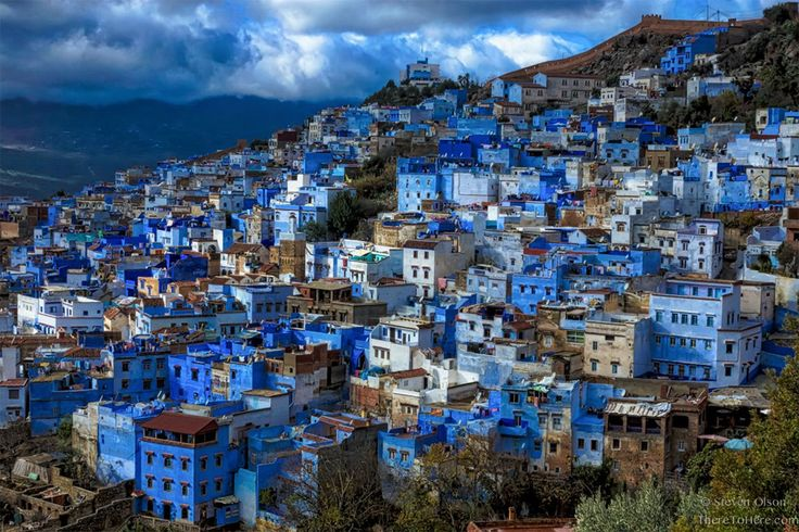 blue city of chefchaouen, morocco photo