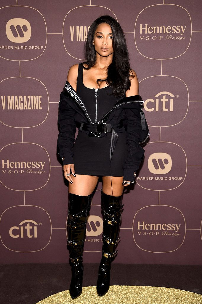 Ciara attends the Warner Music Group Pre-Grammy Party in association with V Magazine on January 25, 2018 in New York City