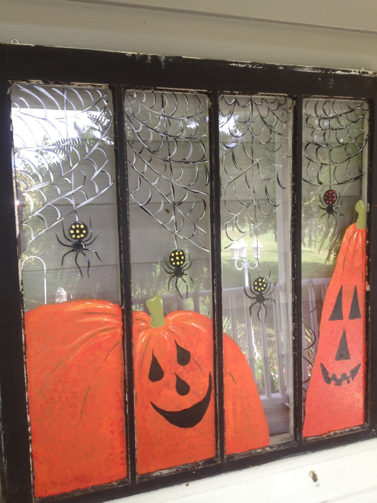 Vintage Window Painted Up For Some HaLLoWeeN FuN Now Available At MishMosh Inc In Reidsville NC