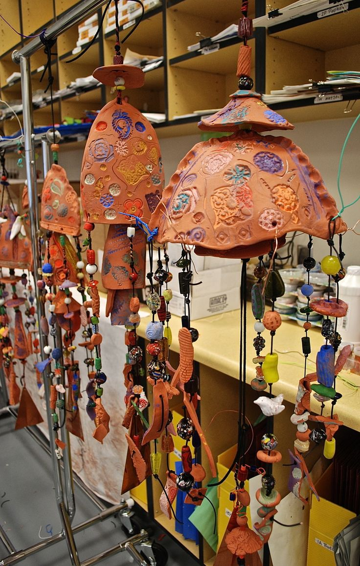 The is the last of 5 wind chimes. It will becompleted with the addition of thumb prints in clay by each 4th grader. These clay thumb printswill hang as the centerpiece of the biggest and most inclusive of the wind chimes.Over 80 of us will have a part or piece that will make for the special harmony of the sound of this wind chime. I can't wait to hear it!!!!!!!!
