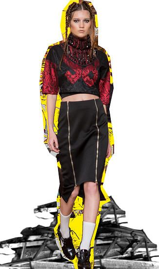 Get the look!!  DMONIC INTENT Double Zip Skirt and SYRE 98 Crop!! Dress it up or down!   www.nakedempirenz.com  #syre #syreordie #fashion #nzdesigners #nzfashion #streetwear #style #streetstyle #catwalk #love #dmonicintent #nakedempire  naked empire fashion auckland new zealand