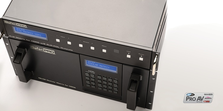 GefenPro matrixes provide users with a bigger bang for your buck by condensing complex functions and features into rack mountable solutions! Our modular matrixes allow you to customize the sources, receivers and cabling you need to distribute! http://www.gefen.com/kvm/gef-mod-32432.jsp?prod_id=10618