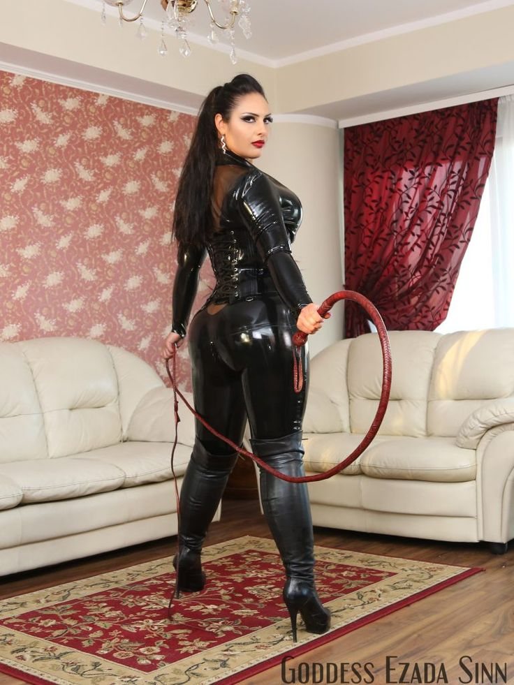 Goddess in boots and butler in chastity - 4 6