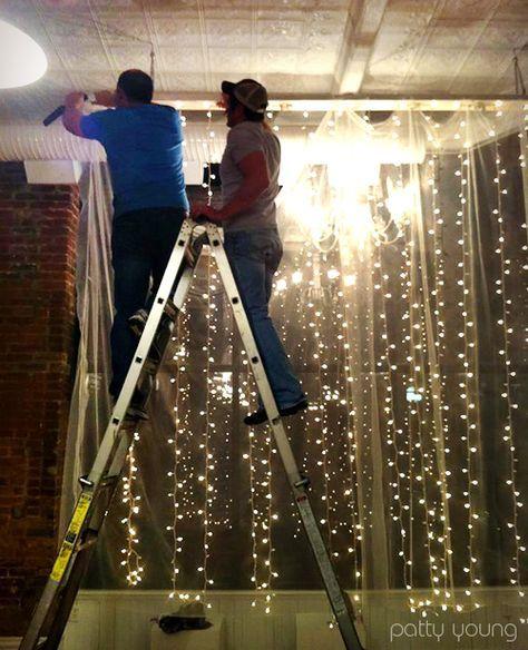 Vertical strings of lights