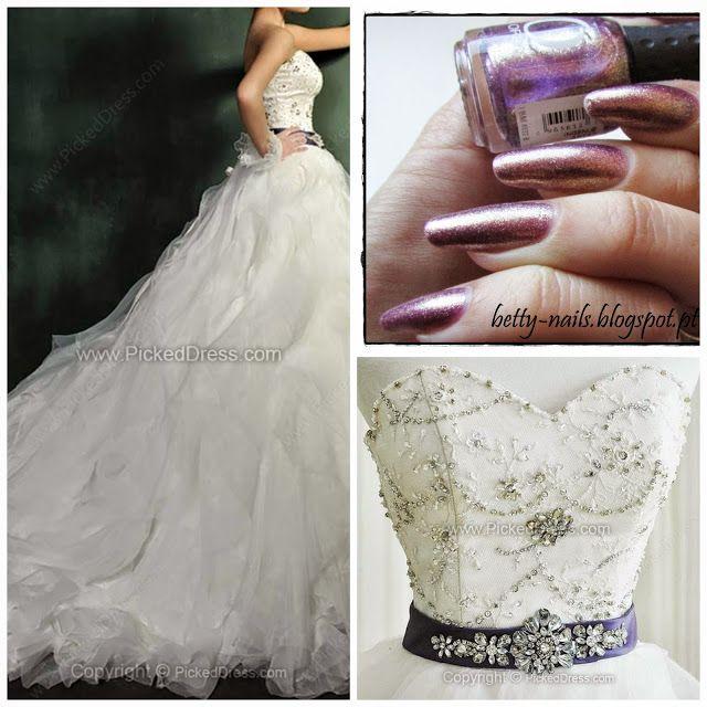 Betty Nails: Fashion November - Nail Polishes for Plus Sized Wedding Dresses #2 pickeddress