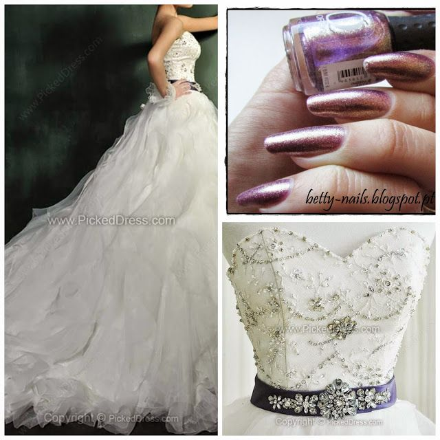 Betty Nails: Fashion November - Nail Polishes for Plus Sized Wedding Dresses #2 pickeddress