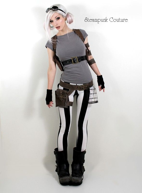 I've hung out with my brother too much but i like this steampunkie outfit i kinda wanna a thighy pack lol