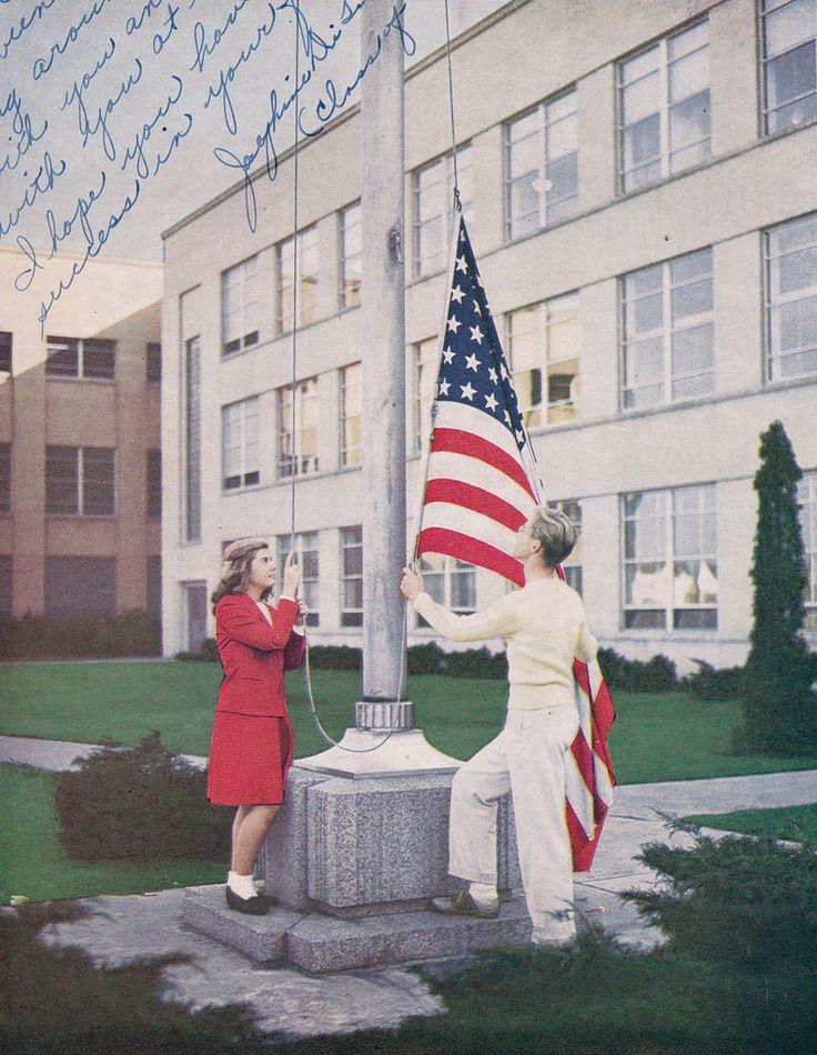 Both are Rockford Illinois East High School 1945.